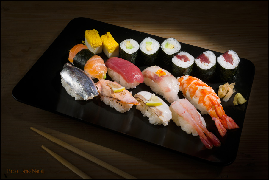Japonski catering - sushi krožnik